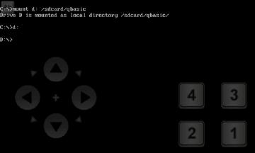 Zadejte příkaz mount d: /sdcard/qbasic