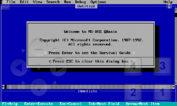 Editor QBasicu verze 1.1 z roku 1992