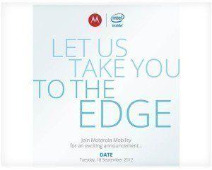 Pozvánka na tiskovou konferenci Motoroly a Intelu