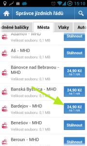 Koupíme si Bardejovskou MHD, která stojí 24,90 Kč