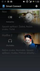 Hlavní obrazovka Smart Connect