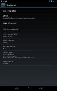 Aktualizovaný Nexus 7 poté bude mít sestavení firmware JZO54K