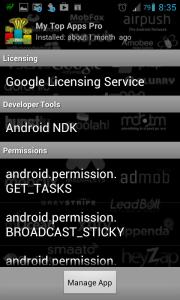 Podrobnosti o zvolené aplikaci