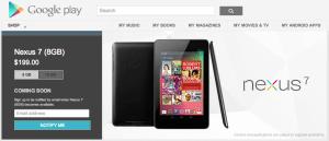 8GB Nexus 7: vyprodáno