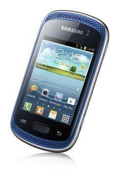 Na čelní straně Samsung Galaxy Music jsou stereo reproduktory