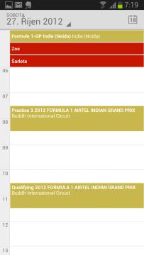 Kalendář Google: denní pohled