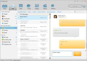 Textové zprávy jsou sdruženy podle kontaktu a prezentovány jako dialog