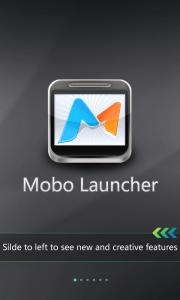 Většinu věcí v Mobo Launcheru zvládnete tahem prstu