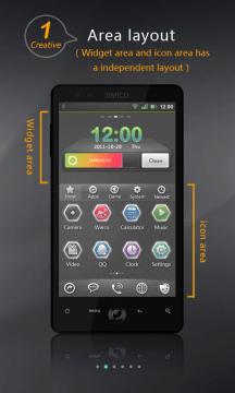 Launcher rozděluje obrazovku na nezávislé oblasti
