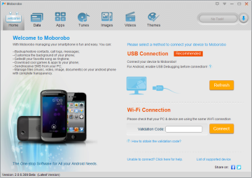 Se zařízením můžete komunikovat skrze USB nebo Wi-Fi