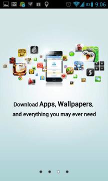 Stahování aplikací, tapet, a vůbec všeho, co byste mohli potřebovat.