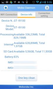 Na záložce Device info můžete získat základní informace o svém telefonu