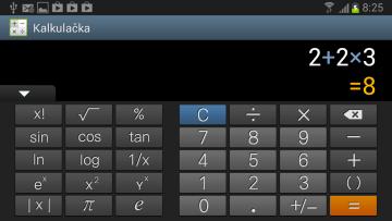 K patnácti pokročilejším funkcím se dostanete otočením telefonu na šířku