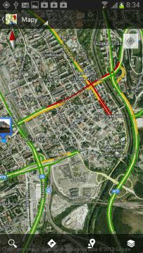 Mapy nabízejí v reálném čase aktualizované informace o dopravě