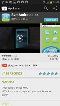 Pokud nevíte, co vám v telefonu chybí, určitě je to aplikace SvětAndroida! ;)
