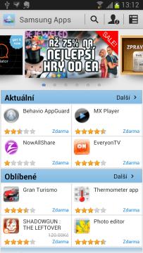Samsung Apps jsou alternativou k Obchodu Play