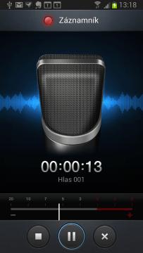 Záznamník je jednoduchá aplikace pro pořizování zvukových nahrávek