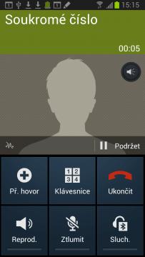 Během telefonování jsou k dispozici tyto funkce