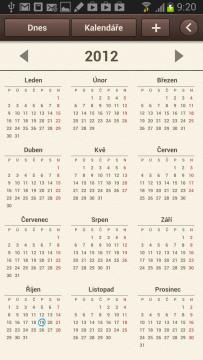 Roční pohled na kalendář