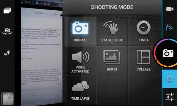 Při pořizování snímku můžete použít jeden ze sedmi režimů
