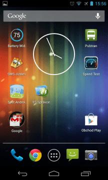 Nexus 4 homepage
