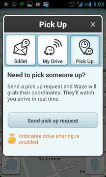 Pošlete pick up request