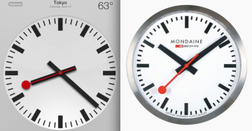 iPad-clock-and-Swiss-Railway-clock-compared