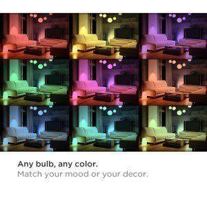 Nastavte barvu osvětlení tak, aby vyhovovala vaší náladě.