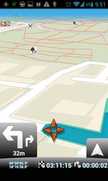 MapFactor Navigator: odbočte vlevo a potom odbočte vpravo