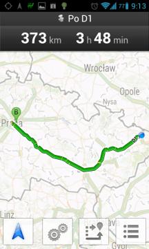 Mapy Google: naplánovaná cesta z Ostravy do Prahy