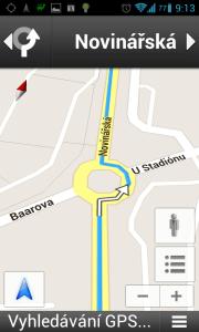 Mapy Google: na kruhovém objezdu pokračujte rovně