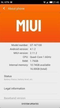MIUI na Samsungu Galaxy Note II
