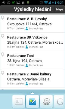 Waze: hledat lze i ve Foursquare venues
