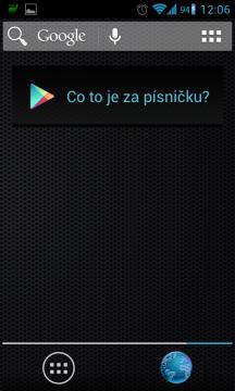 Sound Search for Google Play si vytáhněte na plochu