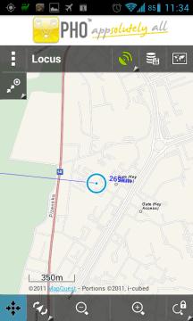 Locus s podklady Mapquest