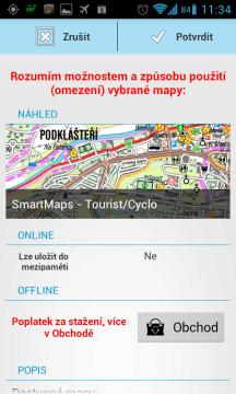 Můžete si stáhnout resp. zakoupit i komerční mapy