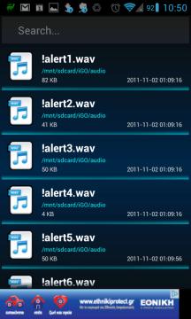 Zvukové soubory najdete v sekci Music
