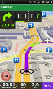 Přepracováno bylo navigační prostředí s mapou