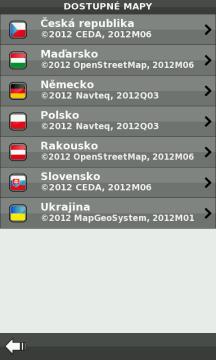 Navigaci be-on-road lze používat s různými mapovými podklady