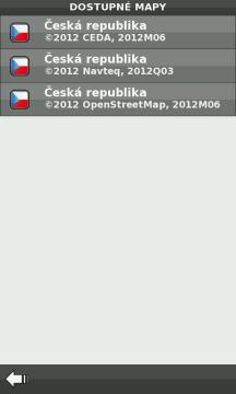 Například v Česku je na výběr CEDA, OpenStreetMap a NAVTEQ