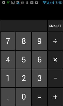 Na první pohled je to obyčejná kalkulačka z Androidu