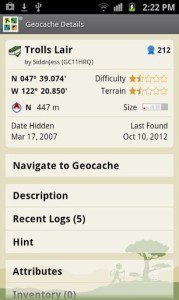 Oficiální aplikace Geocaching od Groundspeaku