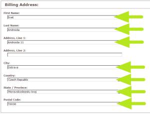 Fakturační adresa