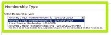 Typ členství