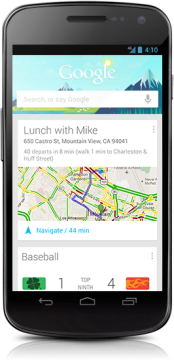Google Now na telefonu