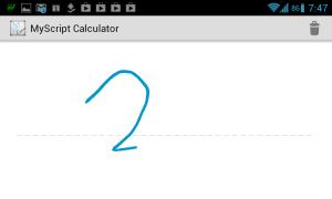 MyScript Calculator rozezná rukou psaný text...