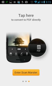 Tapnutím na ikonu PDF v pravém dolním rohu převedete dokument do PDF.