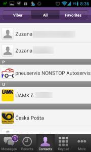 Viber nemá rád české znaky ve jménech