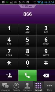 Na číselníku můžete zadávat telefonní čísla