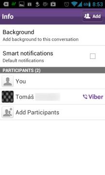 Vlastní pozadí pro každou konverzaci